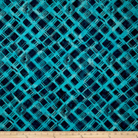 Anthology Batiks Criss-Cross Plaid Blue Note