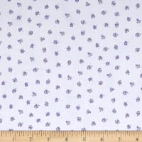 Stof Lavender Story Tiny Purple Flowers Off-White
