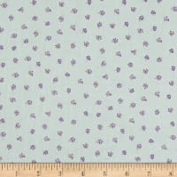 Stof Lavender Story Tiny Flowers Purple/Mint