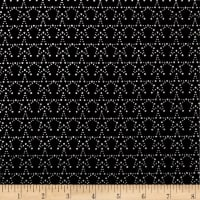 Stof Fabrics Denmark Amazing Stars Grid With Stars Metallic Stars/Black