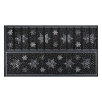 "Stof Fabrics Denmark Amazing Stars Runner Metallic 24"" Panel Silver/Black"