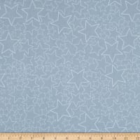Stof Snow House Dotted Stars Blue