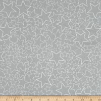 Stof Fabrics Denmark Snow House Dotted Stars Beige