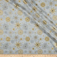 Stof Starlight Stars & Snowflakes Metallic Gold/Grey