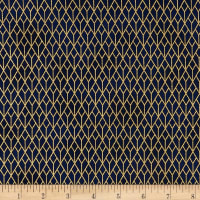 Stof Fabrics Denmark Starlight Grid On Metallic Gold/Grey