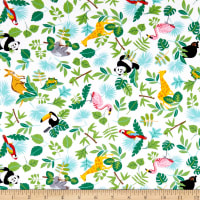 Little Explorers Tossed Leaves/Animals Green/Multi