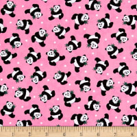 Little Explorers Tossed Pandas Pink