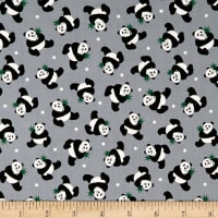 Little Explorers Tossed Pandas Gray