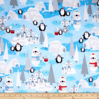 Polar Pals 2 Scenic Flannel Blue