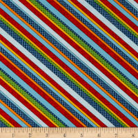 School Zone Diagonal Stripe Multi