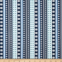 Snow Happy Knitted Stripe Blue