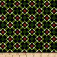 Christmas Village Plaid Green