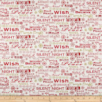 Christmas Village Seasonal Words White