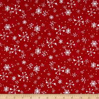 Peppermint Reindeer Snowflakes Red