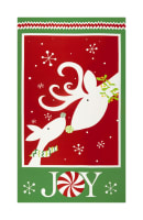 "Peppermint Reindeer 24"" Reindeer Panel Red/Green"