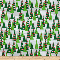 Peppermint Reindeer Trees Green