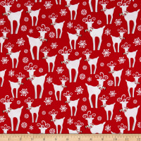 Peppermint Reindeer Reindeer Allover Red