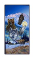 "Collection Of Alaska'S Artist Jon Van Zyle Montage 22"" Panel Multi"