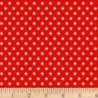 Stof Fabrics Denmark Colour Fun Sunburst Red/White