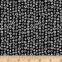 Stof Dot Mania Small Circles Black