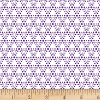 Stof Dot Mania Triangle Ivory/Purple