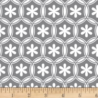 Stof Fabrics Denmark Duo Petals Medium Grey