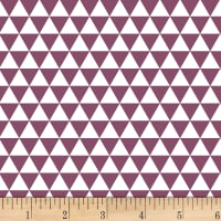 Stof Duo Mini Trangles Purple/Ivory