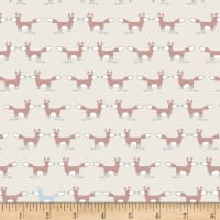 Stof Woodland Foxes Ivory/Brown  Multi
