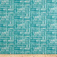 Waverly Sun N Shade Sea La Vie Turquoise Outdoor
