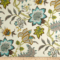 Waverly Sun N Shade Jacobean Flair Turquoise