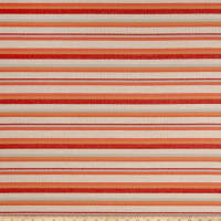 Sunformance Indoor/Outdoor Boardwalk Stripe TangerineBasketweave