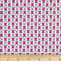 Michael Miller Sewing Circle Snip n' Spool Fuschia
