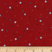 Michael Miller Flight School Sprinkled Stars Red