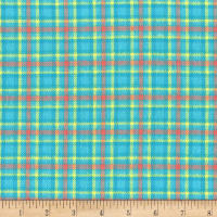 Marcus Primo Plaids Flannel Color Crush II Aqua