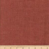 Rustic Woven Small Check Wine/Natural