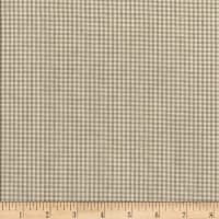 Rustic Woven Small Check Lt Grey/White