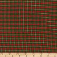 Rustic Woven Plaid Green/Red/Yellow