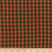 Rustic Woven Plaid Red/Green/Yellow