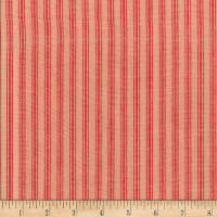 Rustic Woven Stripe Natural/Red