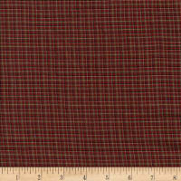 Rustic Woven Fine Plaid Wine/Green/Black