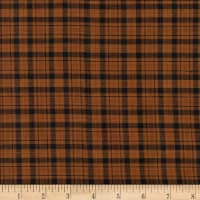 Rustic Woven Plaid Brown/Black