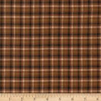 Rustic Woven Plaid Brown/Black/Natural
