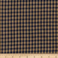 Rustic Woven Small Plaid Navy/Natural