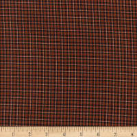 Rustic Woven SM Plaid Kha/Brown/Black