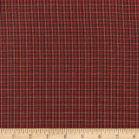 Rustic Woven Fine Plaid Red/Mocha/Grey