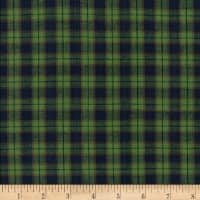 Rustic Woven Plaid Green/Navy