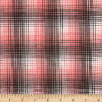 Rustic Woven Small Plaid Mocha/White