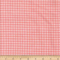 Rustic Woven SM Plaid Lt Pink/White