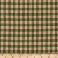 Rustic Woven 5/8in Check Grn/Tea Dye