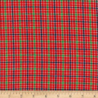 Rustic Woven Plaid Red/Grn/Yellow